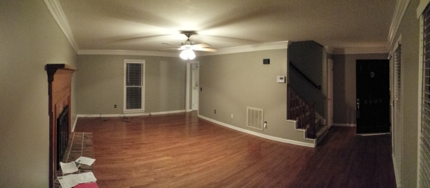 living room empty