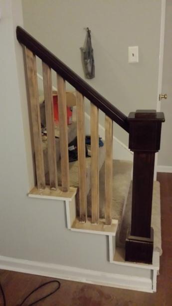 Sanded stair spindles