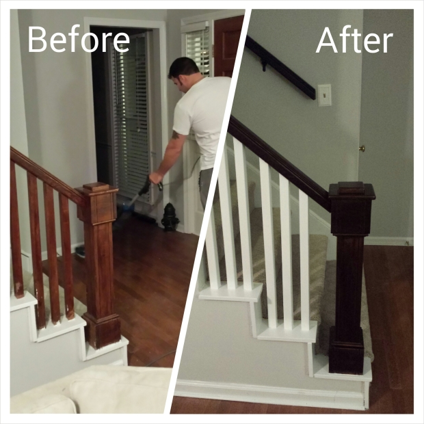 Refinished banister