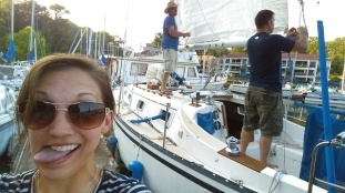 Emily and CobNew boat - Hunter 30 Sailboat