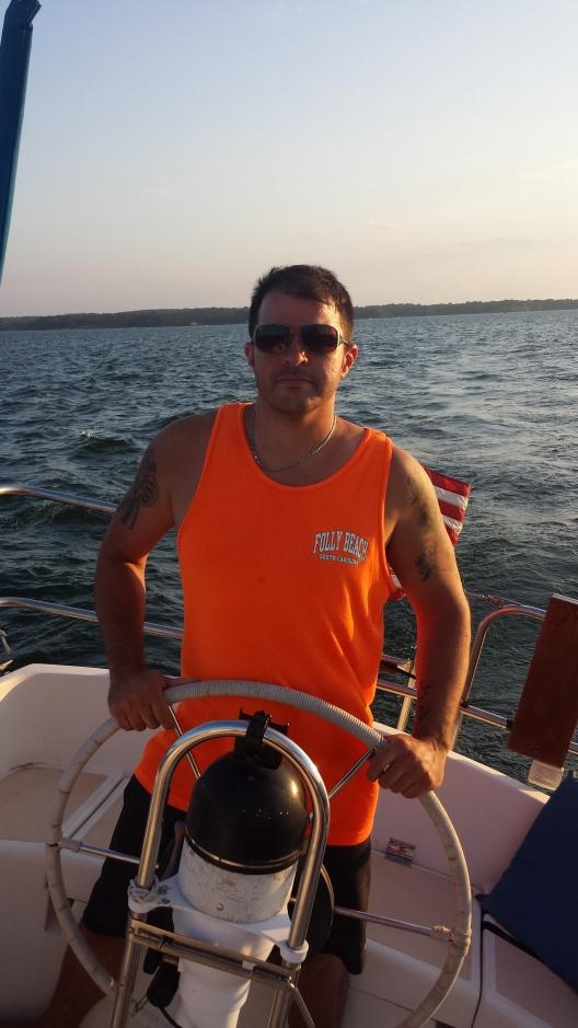 Nick on new boat - Hunter 30 Sailboat
